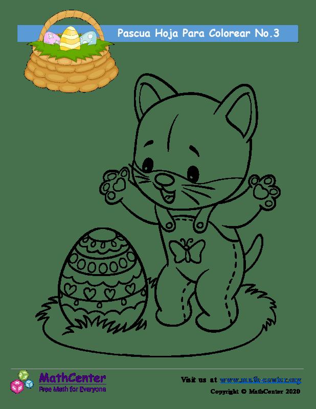 Hoja para colorear - Pascua N°3