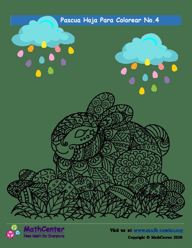 Hoja para colorear - Pascua N°4