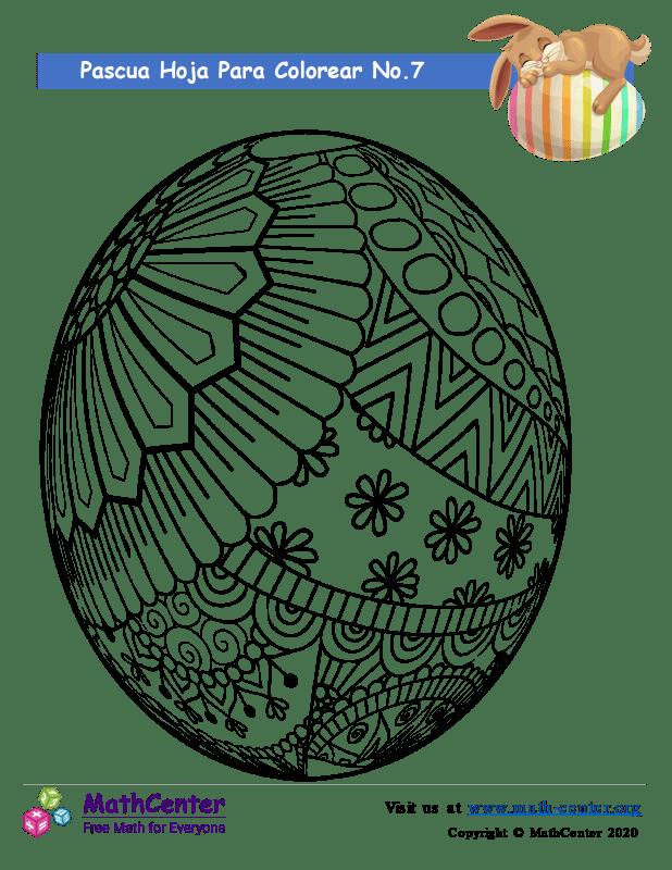 Hoja para colorear - Pascua N°7