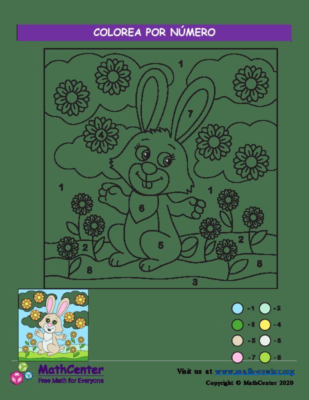 Colorea por Número - Pascua N°2