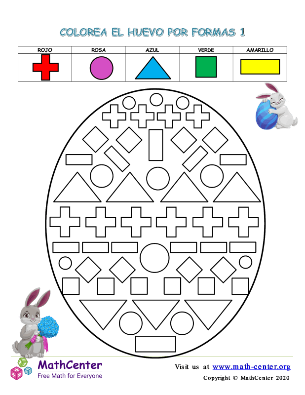 Colorear La Forma De Huevo De Pascua En 1
