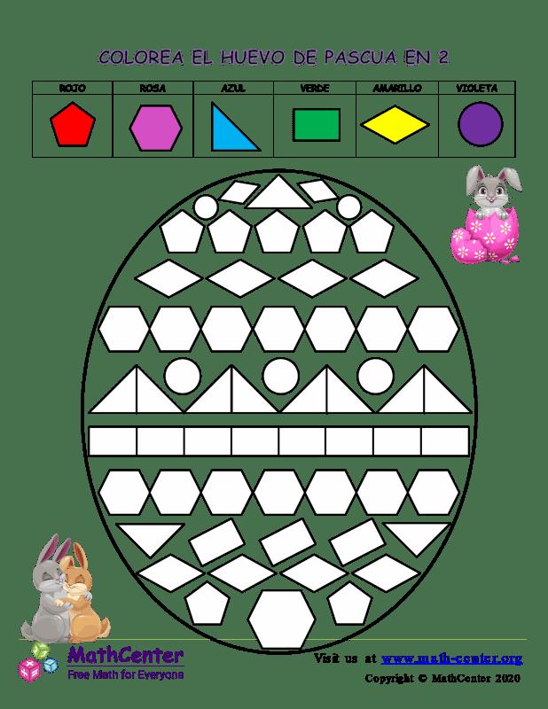 Colorear La Forma De Huevo De Pascua En 2