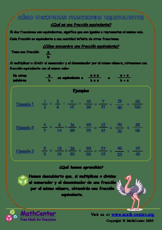 Cómo Encontrar Fracciones Equivalentes