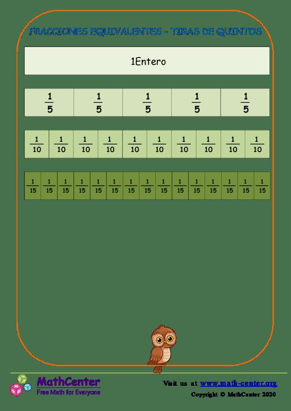 Fracciones Equivalentes - Tiras De Quintos