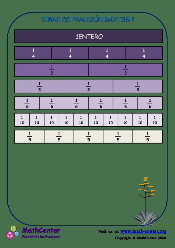 Tiras De Fracción Mixtas 1