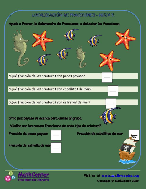 Localización De Fracciones - Hoja 5