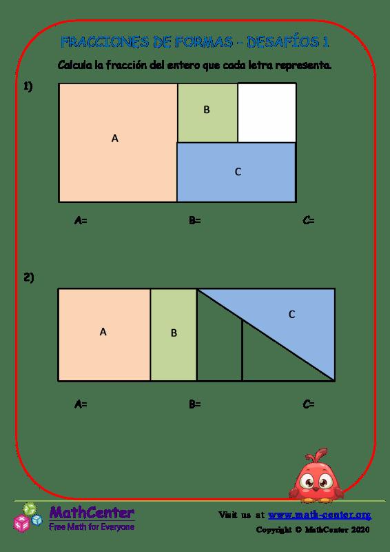Fracciones De Formas - Desafíos 1