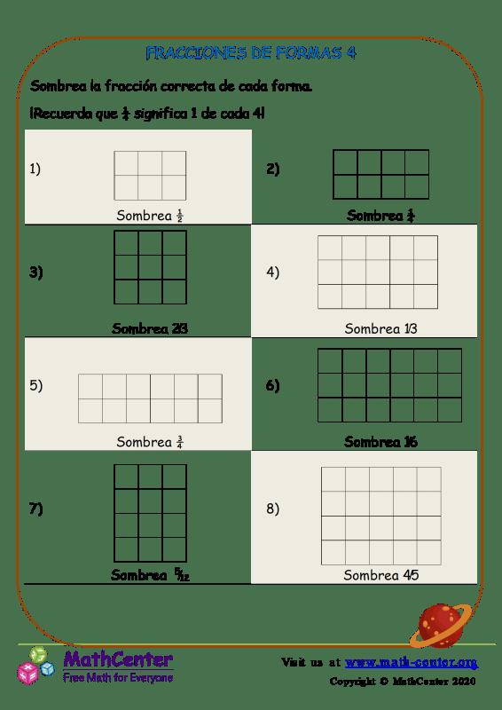 Fracciones De Formas 4