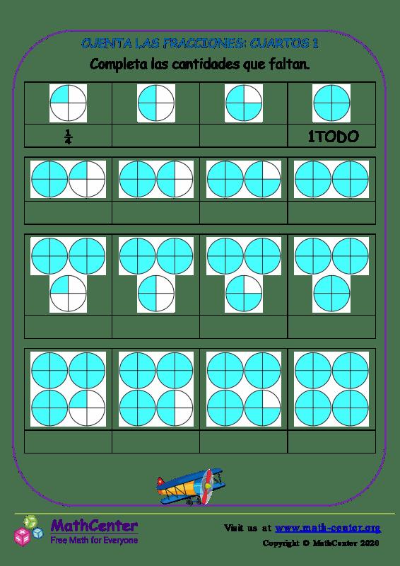 Cuenta Las Fracciones: Cuartos 1