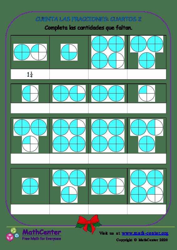 Cuenta Las Fracciones: Cuartos 2