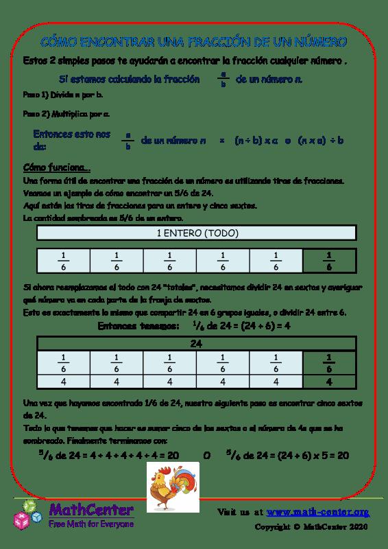 Cómo Encontrar Una Fracción De Un Número