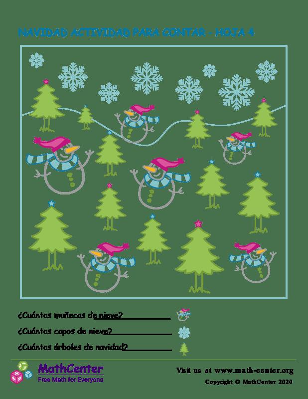 Navidad Actividad Para Contar Hoja 4