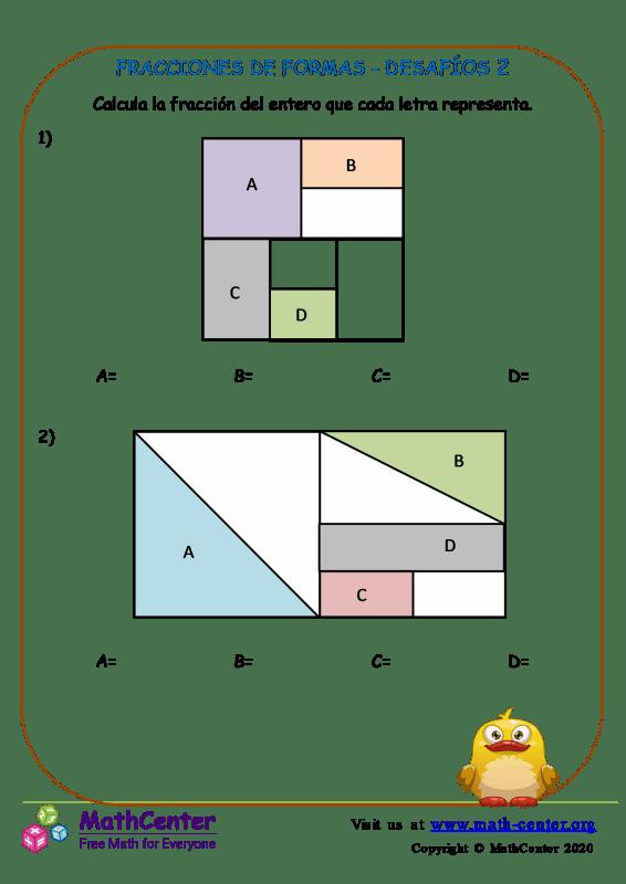 Fracciones De Formas - Desafíos 2