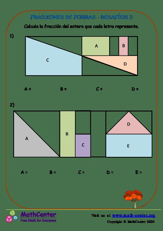 Fracciones De Formas - Desafíos 3