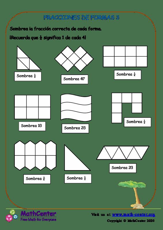Fracciones De Formas 3