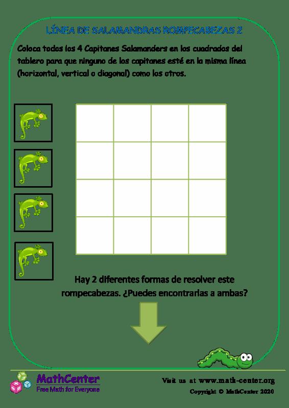 Línea De Salamandras Rompecabezas 2