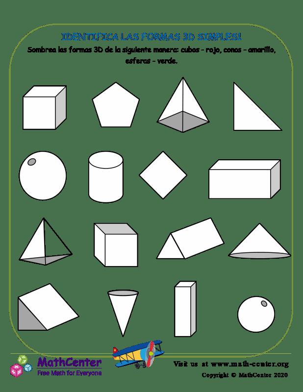 Identifica Las Formas 3D Simples1