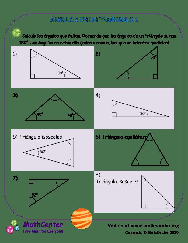 Ángulos En Un Triángulo 1