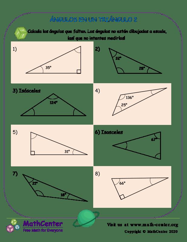 Ángulos En Un Triángulo 2