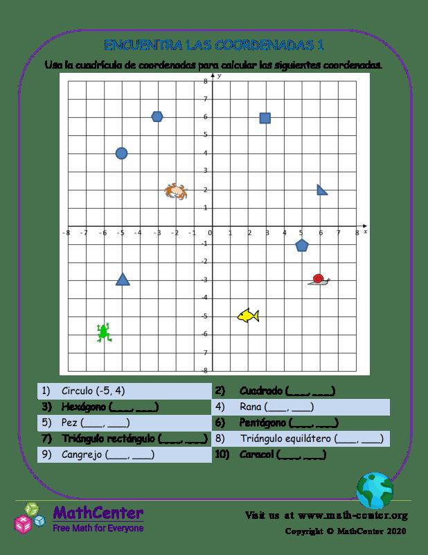 Encuentra Las Coordenadas 1