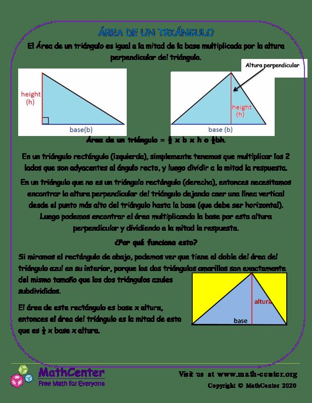Área De Un Triángulo