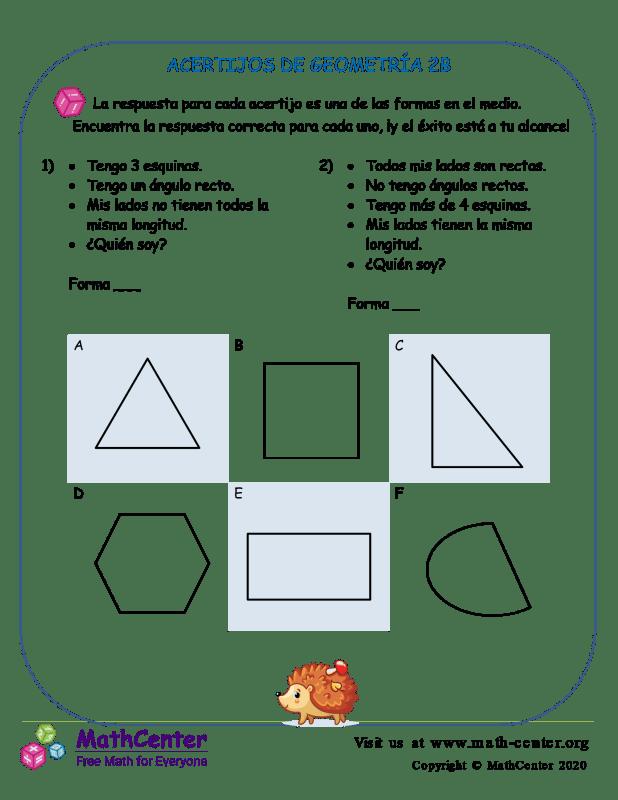 Acertijos De Geometría 2B