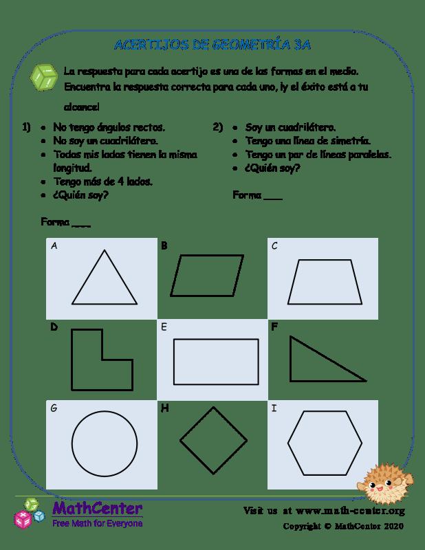 Acertijos De Geometría 3A