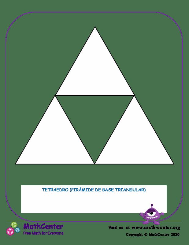 Red de tetraedro (pirámide de base triangular)