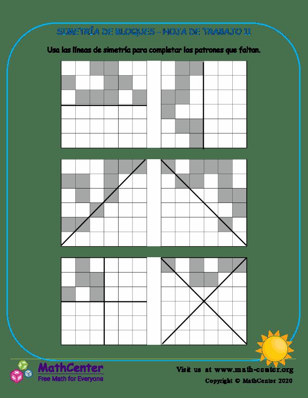 Simetría De Bloques Hoja De Trabajo 11