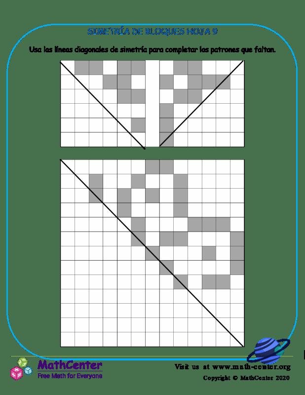 Simetría De Bloques Hoja 9