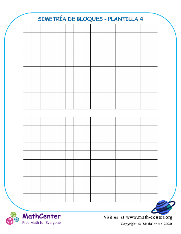 Simetría De Bloques Plantilla 4