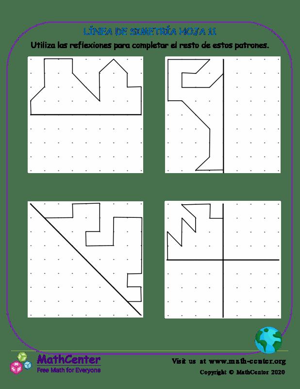 Línea De Simetría Hoja 11