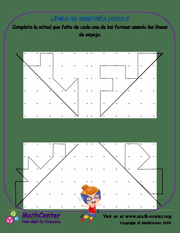 Línea De Simetría Hoja 9