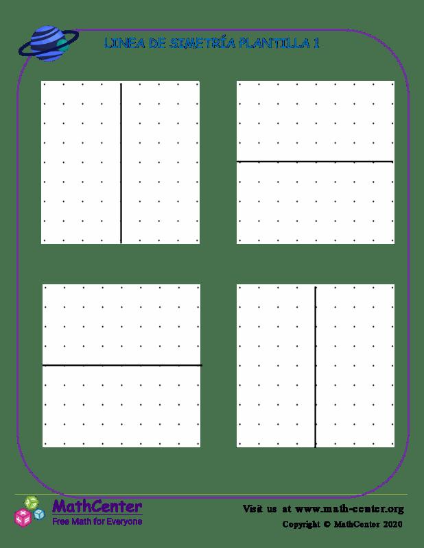 Linea De Simetría Plantilla 1