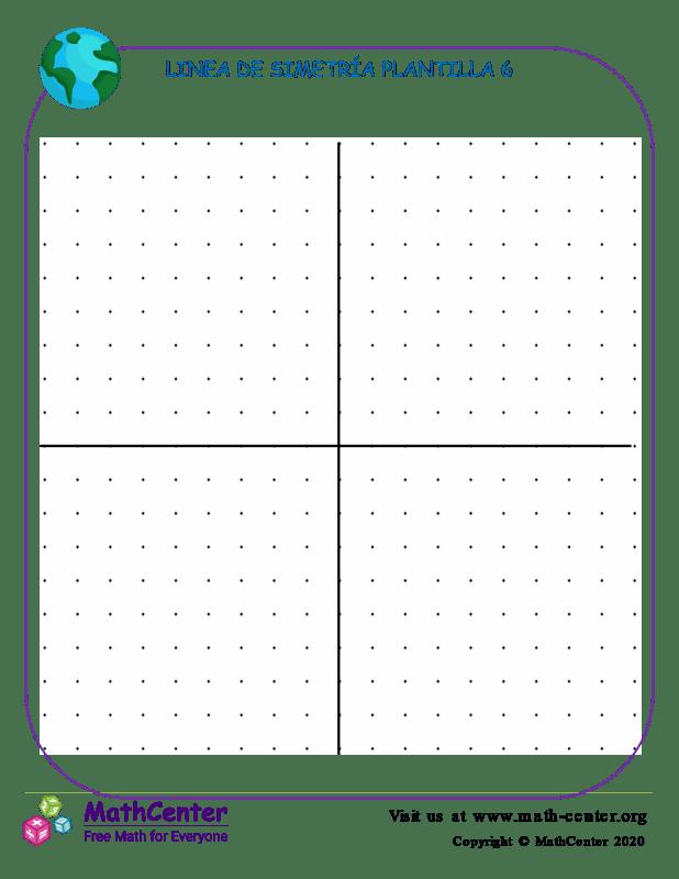 Linea De Simetría Plantilla 6