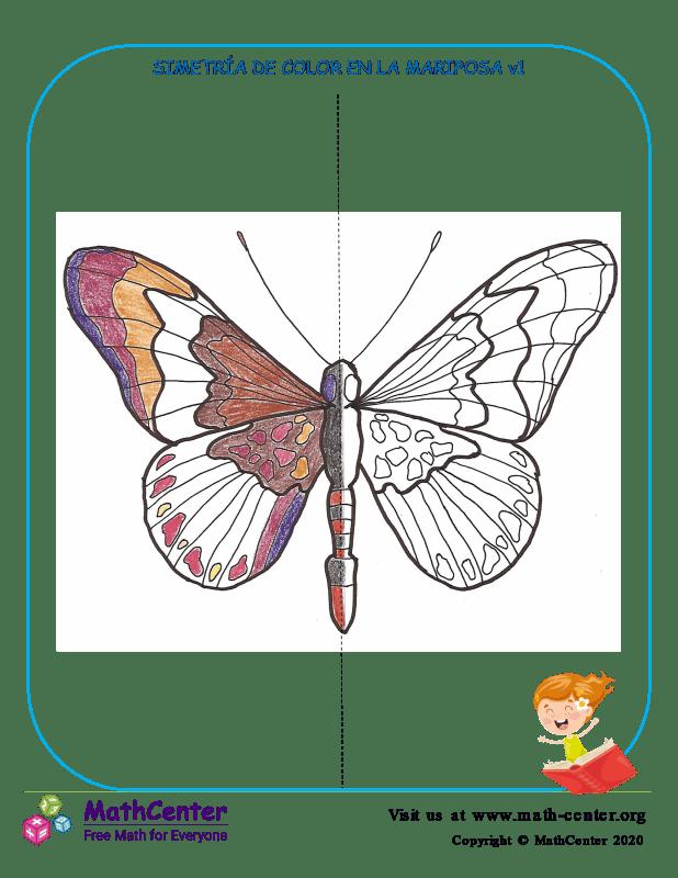 Simetría De Color En La Mariposa V1