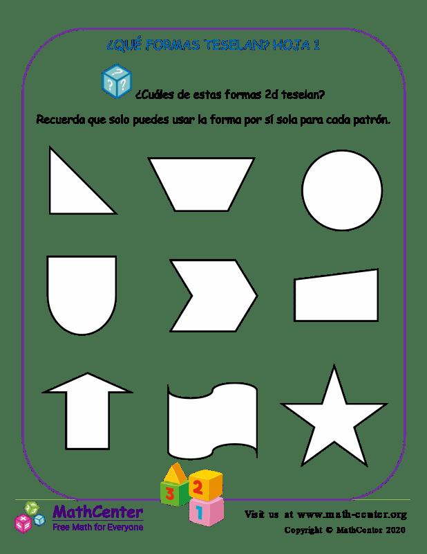 ¿Qué Formas Teselan? Hoja 1