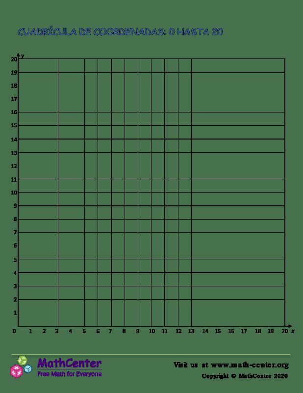 Cuadrícula De Coordenadas 0 Hasta 20