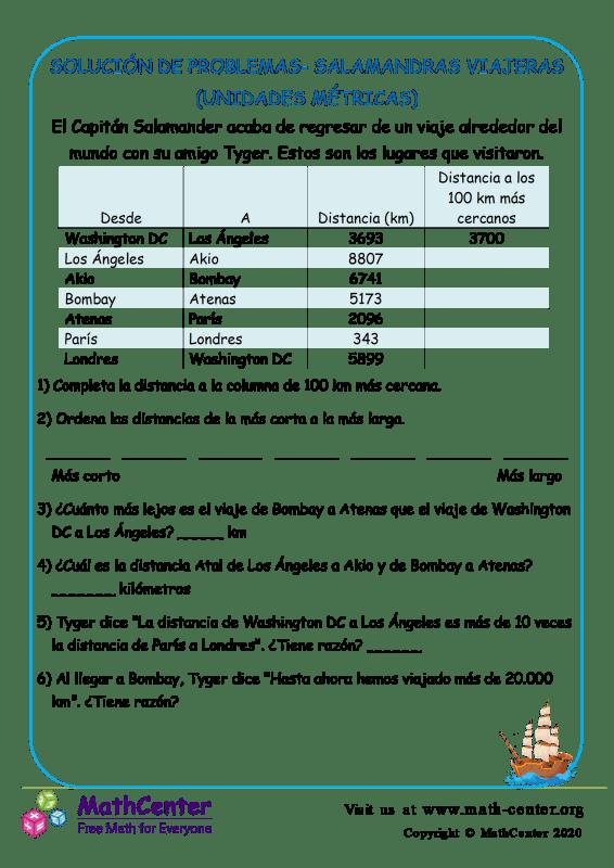 Solución De Problemas- Salamandras Viajeras