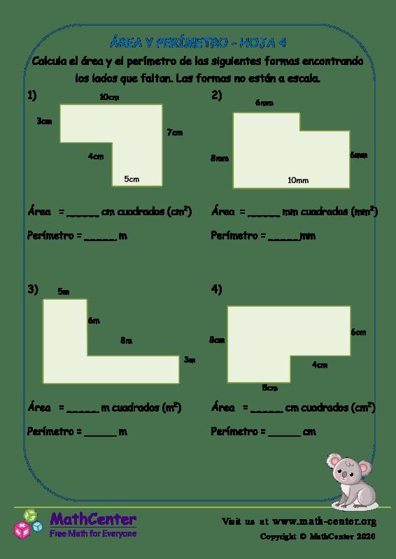 Área Y Perímetro Hoja 4