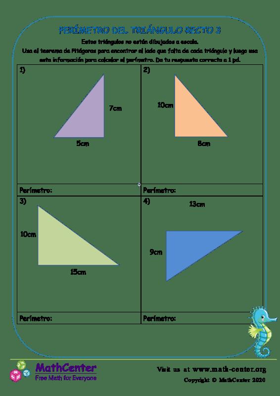 Perímetro Del Triángulo Recto 3