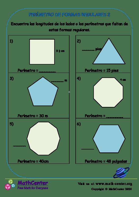 Perímetro De Formas Regulares 2