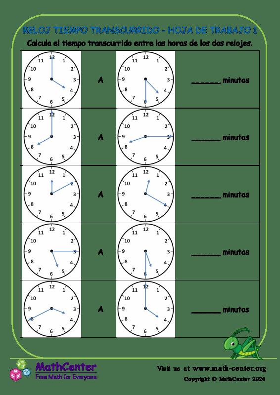 Reloj Tiempo Transcurrido - Hoja De Trabajo 1