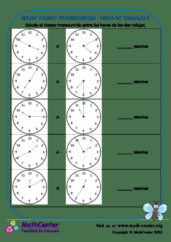 Reloj Tiempo Transcurrido - Hoja De Trabajo 2