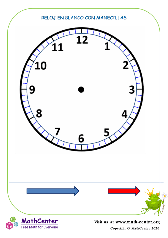 Reloj en Blanco N° 2