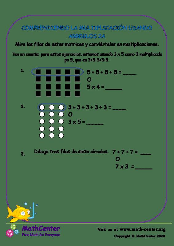 Comprendiendo La Multiplicación Usando Arreglos 2A