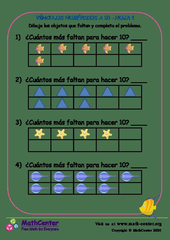 Vínculos Numéricos A 10 Hoja 1