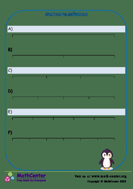 Rectas numéricas N° 1