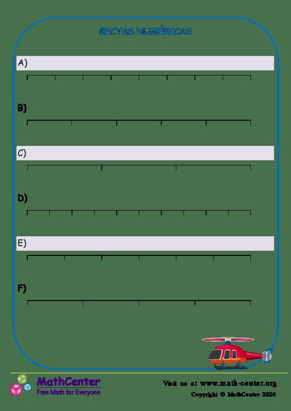 Rectas numéricas N° 2 A
