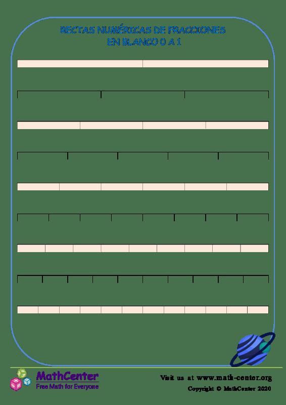 Vaciar Las Líneas Del Número De Fracción 0 A 1